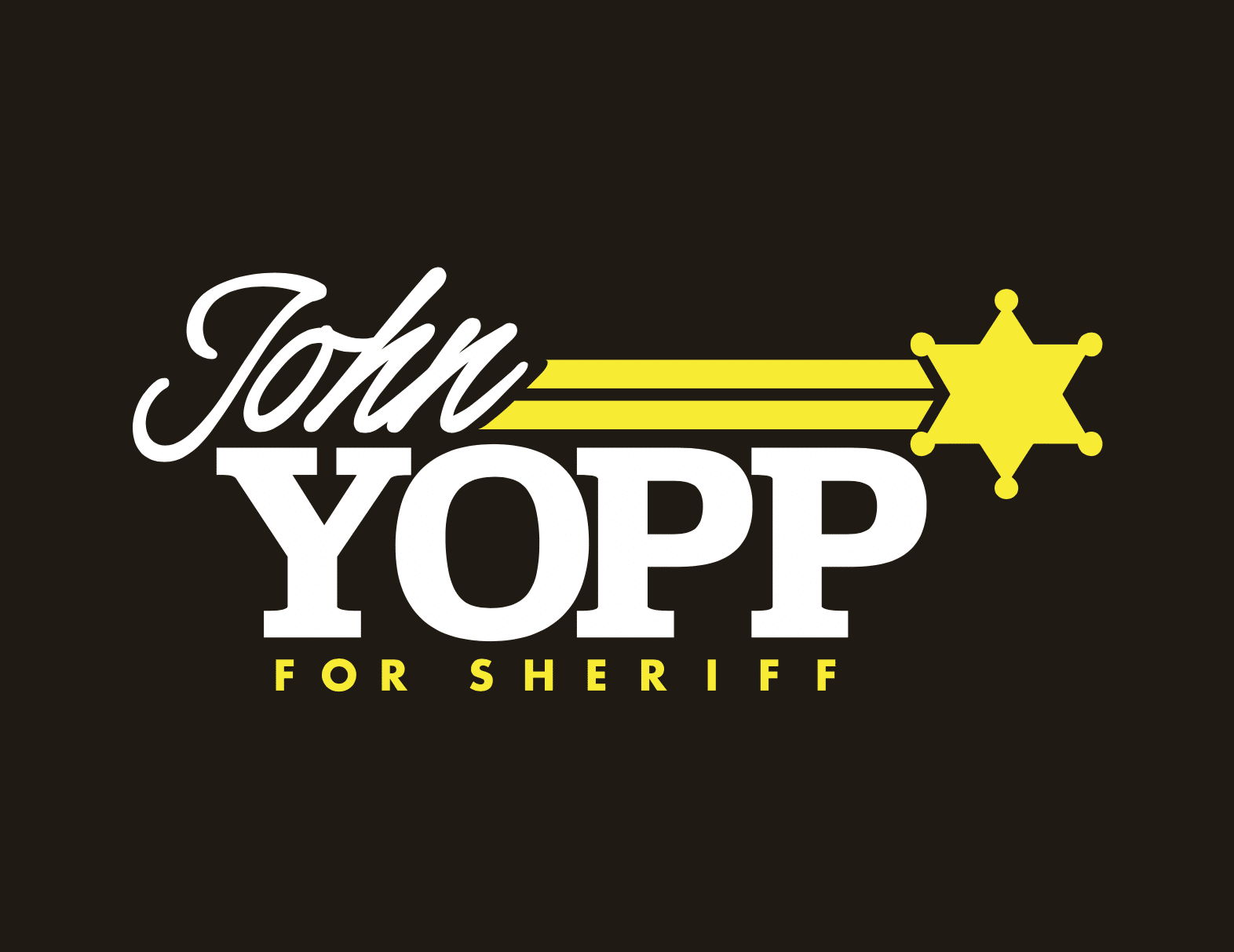John Yopp for Sherrif logo design by Tidemark Creative